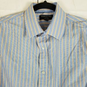 Banana Republic Button Down Blue Striped Sz M